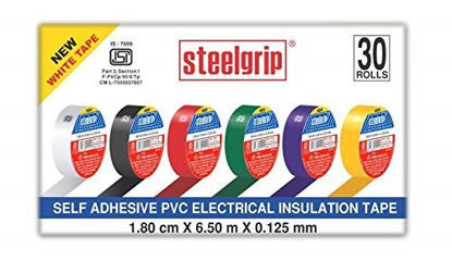 Picture of Pidilite Steelgrip Self Adhesive PVC electrical Insulation Tape - Pack of 30 Black Rolls (6.50 m each)