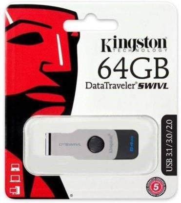 Picture of Kingston SWIVL 64 GB Pen Drive  (Multicolor)