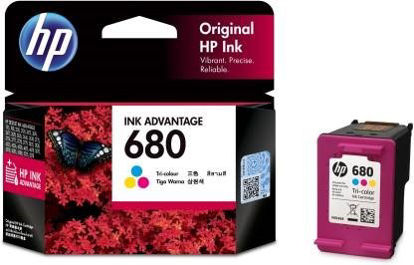 Picture of HP 680 Tri Color Ink Cartridge  (Magenta, Cyan, Yellow)