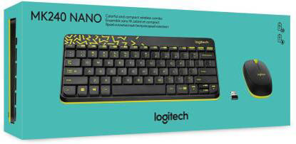 Picture of Logitech MK240 NANO Mouse and Keyboard Combo Black Color Wireless
