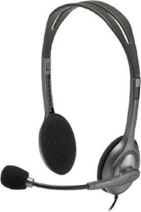 Picture of Logitech H111 With Mic 3.5MM Jack Wired Headset  (Black, On the Ear)