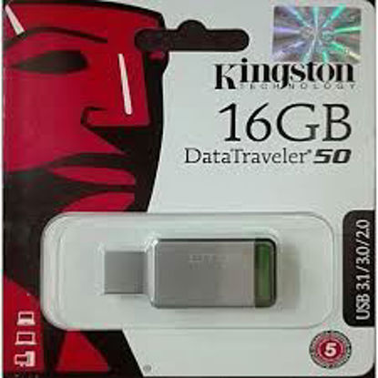 Picture of Kingston 16GB DataTraveler 50 USB 3.0 Flash Drive