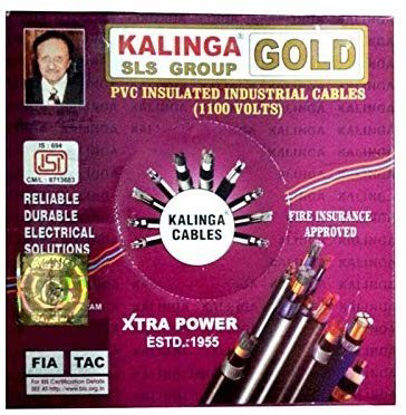 Picture of Kalinga Gold PVC Insulated Industrial 1.0 sq mm. black color Cable