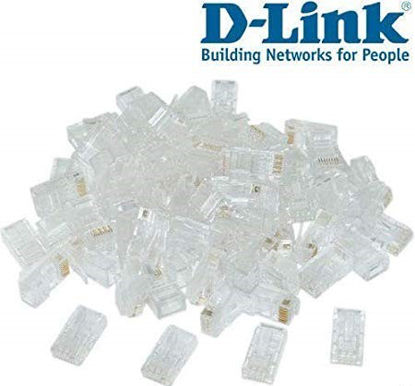 Picture of D Link Plastic Cat 5 RJ 45 Cable Connector - Pack Of 100 Pieces