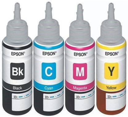 Picture of Epson Original Ink T664 For L110, L220, L210, L360, L365, L555, L565, (1 Set) Tri Color Ink Cartridge  (Magenta, Cyan, Yellow)