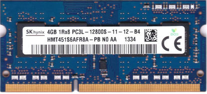 Picture of Hynix Hmt451S6Afr8A-Pb 4Gb Pc3-12800 DDR3-1600Mhz Non-Ecc Unbuffered Cl11 204-Pin Sodimm 1.35V Low Voltage Single Rank Memory Module laptop ram