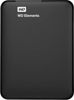 Picture of WD Elements 1 TB Wired External Hard Disk Drive  (Black)