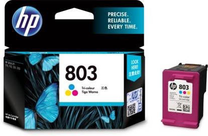 Picture of HP 803 Tri Color Ink Cartridge  (Magenta, Cyan, Yellow)