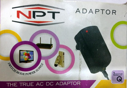 Picture of 12V 1A Power Adaptor, Power Supply Ac Input 100-240V Dc Output 12Volt 1Amps